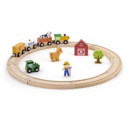 Железная дорога 19 деталей игровой набор Viga Toys (51615), фото 2