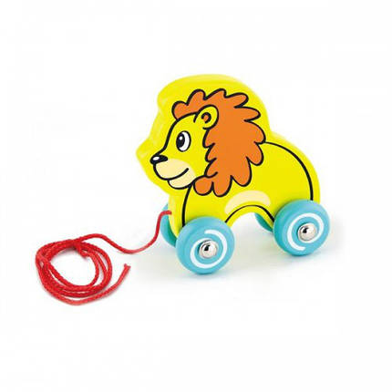 Лев деревянная игрушка-каталка Viga Toys (50090), фото 2
