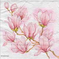 Салфетка для декупажа Розовая магнолия 33см х 33см