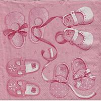 Салфетка для декупажа Набор детский розовый 33см х 33см