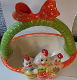 Корзинка керамика пасхальная для  яиц Bonadi 23-E200, фото 2