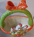 Корзинка керамика пасхальная для  яиц Bonadi 23-E200, фото 3