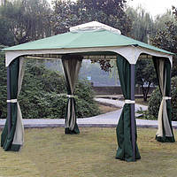 Садовый павильон «DU-120 green» с москитками и шторами(7080)
