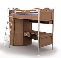 Кровать+стол+шкаф An-16-3 Angel вишня