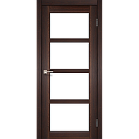 Дверь APRICA  АР-02. Со стеклом сатин (орех, дуб беленый, дуб грей).  KORFAD