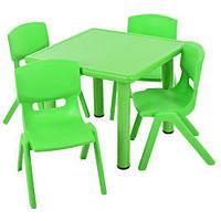 Детский столик и 4 стульчика пластик B0203-5