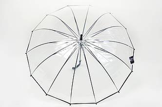 Зонт прозрачный большой черный