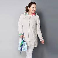 Женский демисезонный плащ Astrid больших размеров куртка тонкая с капюшоном AY-1670 48, 50, 52, 54, 56, 58, фото 1