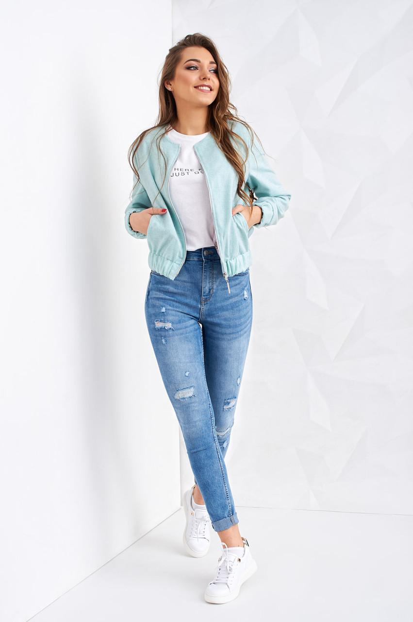 Молодёжная женская куртка бомбер