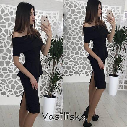 Платье с баской и распоркой ан-180496-2, фото 2