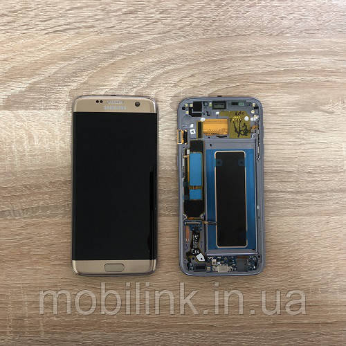Дисплей Samsung S7 Edge SM-G935 Серый Silver GH97-18533B оригинал!