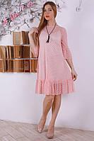 Женское платье пудрового цвета