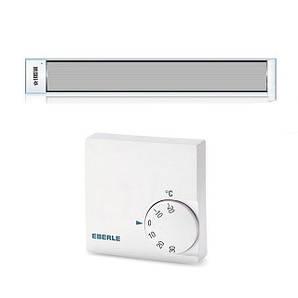 Потолочный инфракрасный обогреватель с терморегулятором EKOSTAR  E1300 мощность 1300 Вт. до 26 м.кв. белый
