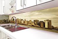 Кухонный фартук Сити, (полноцветная фотопечать, стеновая панель для кухни)