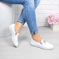 Кеды женские 3D белые 4535, кеды женские осенняя обувь