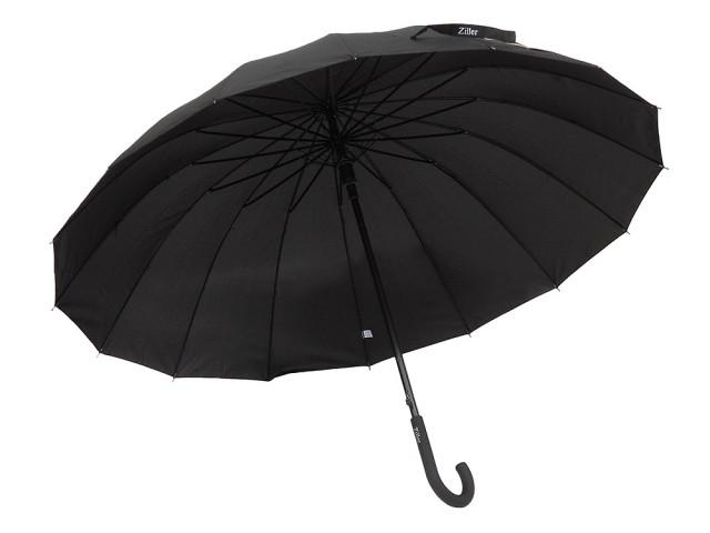 Зонт-трость полуавтомат Ziller ZL-401 ,16 спиц / Зонт антиветер