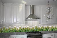 Кухонный фартук Тюльпаны 01 (кухонные фартуки для кухни на стену фотопечать, скинали, цветы) 600*2500 мм