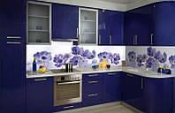 Кухонный фартук Василек, (кухонные фартуки для кухни на стену фотопечать, скинали цветы) 600*2500 мм