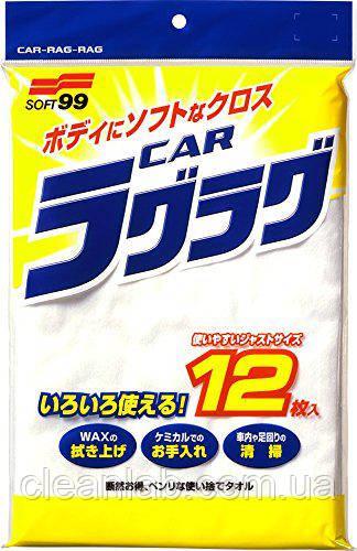 Салфетка Soft99 04020 New Car Rug Rug  — для располировки покрытий, 12шт