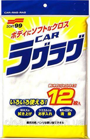 Салфетка Soft99 04020 New Car Rug Rug  — для располировки покрытий, 12шт, фото 2