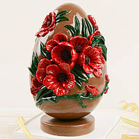 "Шоколадная фигура ""Крашенка"" классическое сырье. Размер: 180х180х200мм, вес 500г"