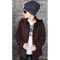 Стильное пальто на мальчика, подростка
