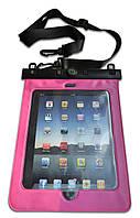"""Водонепроницаемый чехол для планшета """"11"""" + шнурок на шею розовый"""