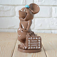 "Шоколадная фигура ""Мышка молочная"" классическое сырье. Размер: 74х74х155мм, вес 370г, фото 1"