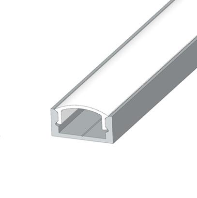 Алюмінієвий накладної LED профіль ЛП-7 анод + лінза розсіювач
