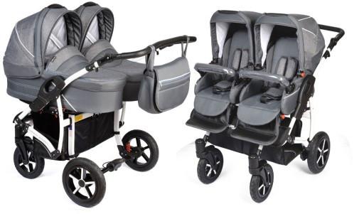 Многофункциональная коляска для двойни DORJAN DANNY SPORT 5 TWIN 3в1