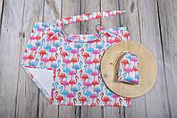 Накидка для кормления + сумочка-чехол, Фламинго, фото 1