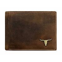 Мужское кожаное портмоне RM-02-BAW Tan, фото 1