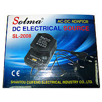 Адаптер питания Solma SL-2008 (1.5-12V,1200mA)