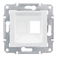 Панель 1-мод. AMP MOL КАТ5Е 6 UTP Белый Schneider Sedna, SDN4300621