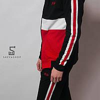 Зиппер мужской MS 18, черный с красным, фото 1