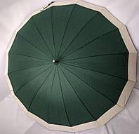 Зонт-трость полуавтомат Ziller ZL-402 ,16 спиц / Зонт антиветер