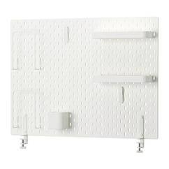 Полка IKEA SKÅDIS 76x56 см комбинация перфорированных досок белая 292.173.77
