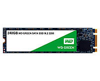 SSD M.2 240Gb, Western Digital Green, SATA3, TLC 3D NAND, 545/430 MB/s (WDS240G2G0B), твердотельный накопитель ссд 240 Гб для ноутбука и ПК