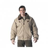Мужская винтажная куртка бомбер B-15A с меховым воротником фирмы Rothco