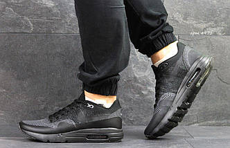 Кроссовки мужские  Nike Air Max 1 Flyknit черные