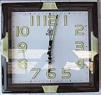Кварцевые настенные часы с плавным ходом стрелки Pearl PW108-L