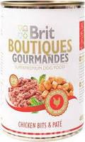 Brit (Брит) Boutiques Gourmandes Кусочки курицы в паштете для собак,400 гр
