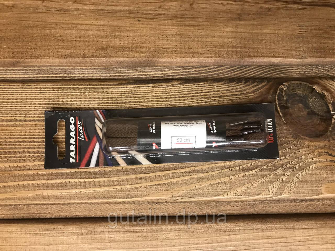 Шнурки для обуви Tarrago плоские 90 см, цв. средне-коричневый (39)