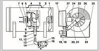 Запасные части для газового воздухонагревателя Ermaf GP 14