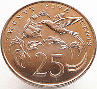 Ямайка 25 центов 1987