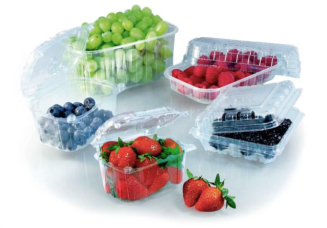Лотки для ягод и фруктов, блистерная прозрачная упаковка фото