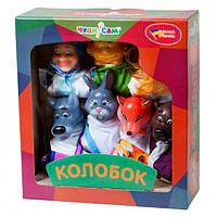 """Кукольный театр """"Колобок"""" премиум упаковка, 7 персонажей, книжка В065"""