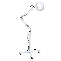 Лампа-лупа на штативе с подсветкой напольная