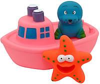 Набор игрушек для ванной Baby Team Корабль друзей (9000 Розовый)