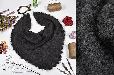 Оренбургский серый пуховой платок Джамалия 90 см